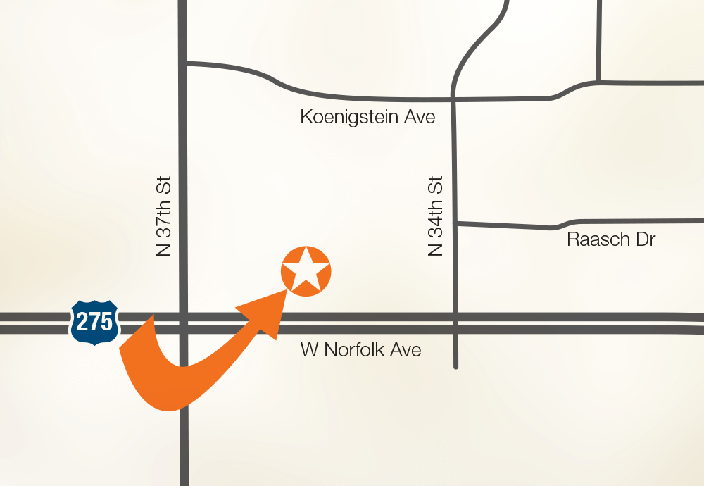 A Map of Our Office's Location